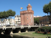 The Old Town of Perpignan with the Castillet