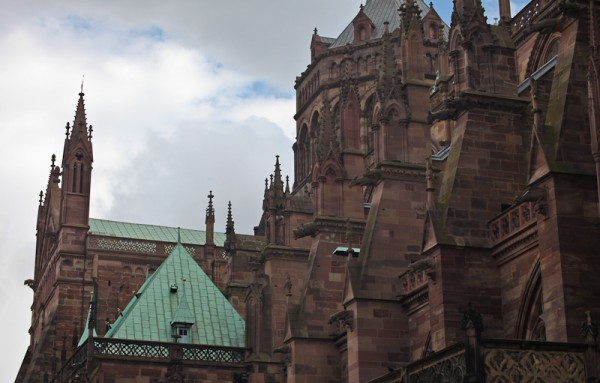 Portion of Strasbourg Cathedral Cea./Flickr