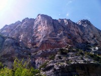 Climbing in the Verdon Gorge