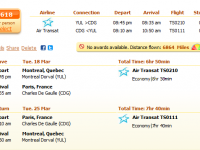 AIR TRANSAT FLIGHT FROM MONTREAL TO PARIS FROM $618 R/T